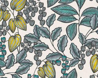 Architects Paper Tapete «Floral, Creme, Gelb, Grün» 377551