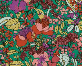 Architects Paper Tapete «Floral, Bunt, Grün, Rot» 377561