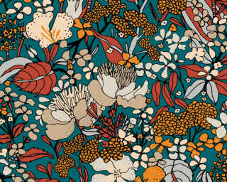 Architects Paper Tapete «Floral, Beige, Blau, Bunt» 377562
