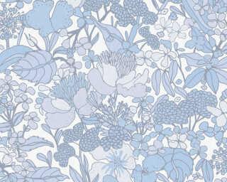 Architects Paper Tapete «Floral, Blau, Weiß» 377566