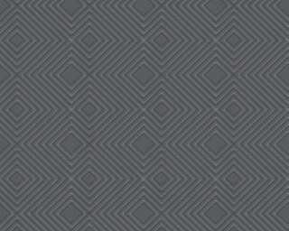 A.S. Création papier peint «Graphique, métallique, noir» 377581