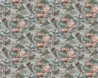 A.S. Création Wallpaper «Floral, Blue, Coloured, Green» 377822