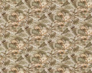 A.S. Création papier peint «Floral, beige, marron, vert» 377824