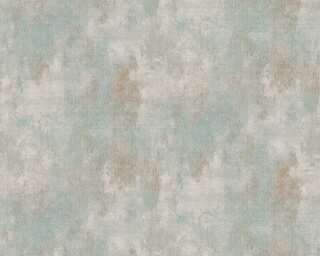A.S. Création Wallpaper «Baroque, Blue, Green, Grey» 377864