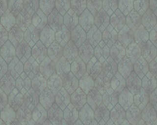 A.S. Création Wallpaper «Graphics, Green, Grey, Metallic» 377871