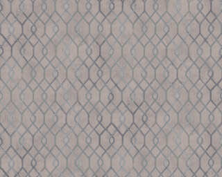 A.S. Création papier peint «Graphique, gris, marron, métallique» 377872