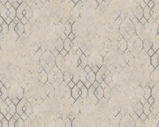 A.S. Création papier peint «Graphique, gris, marron, métallique» 377873