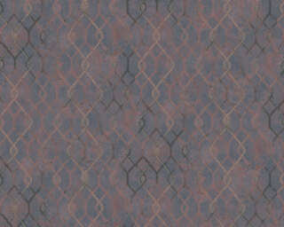 A.S. Création papier peint «Graphique, gris, marron, métallique» 377874