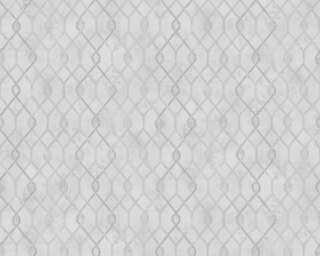 A.S. Création Tapete «Grafik, Grau, Metallics, Weiß» 377875