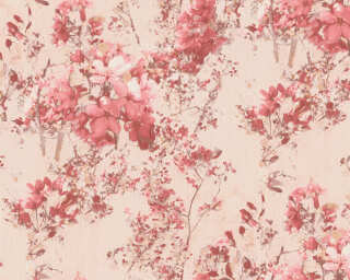 A.S. Création Wallpaper «Floral, Beige, Red» 378162