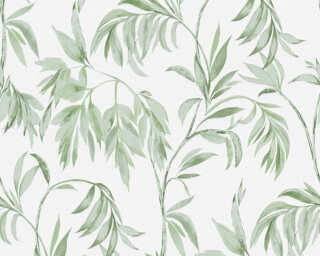 A.S. Création Tapete «Floral, Grün, Weiß» 378301