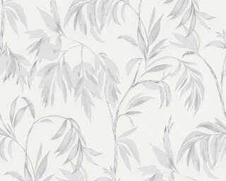 A.S. Création Tapete «Floral, Grau, Weiß» 378302