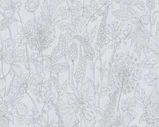A.S. Création Tapete «Floral, Grau» 378342