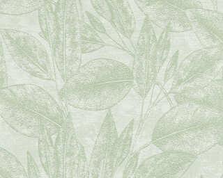 A.S. Création papier peint intissé «Floral, vert» 378363