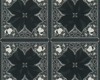 Karl Lagerfeld Обои «Барокко, Белые, Черные» 378452