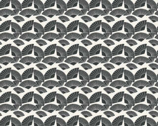 Karl Lagerfeld Tapete «Grafik, Metallics, Schwarz, Weiß» 378473