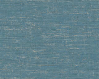 Livingwalls Wallpaper «Uni, Blue, Green, Metallic» 378576
