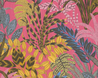Livingwalls Wallpaper «Floral, Coloured, Pink, Yellow» 378602