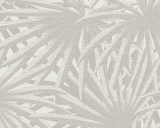 Livingwalls Wallpaper «Floral, Grey, Metallic, White» 378614