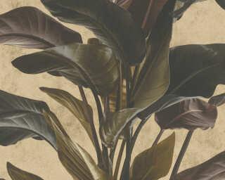 Livingwalls Tapete «Floral, Braun, Metallics, Schwarz» 378624