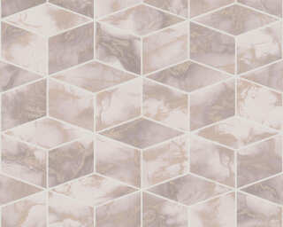 Livingwalls Wallpaper «Graphics, Metallic, Pink, White» 378632