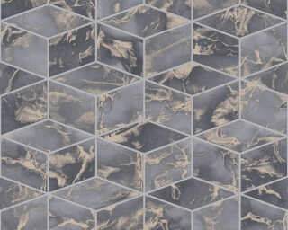 Livingwalls Wallpaper «Graphics, Beige, Grey, Metallic» 378633