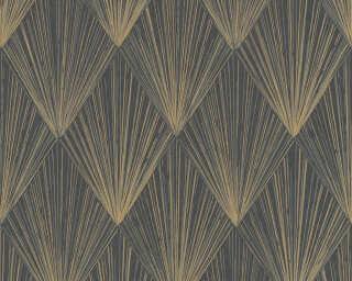 Livingwalls papier peint «Graphique, beige, métallique, noir» 378644