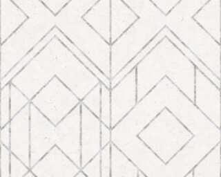 Livingwalls Tapete «Grafik, Grau, Metallics, Weiß» 378691