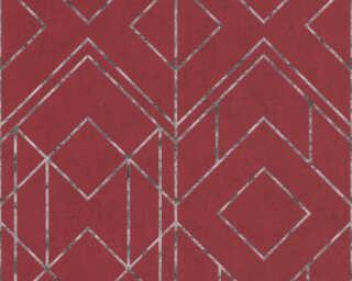 Livingwalls Tapete «Grafik, Metallics, Rot, Schwarz» 378692