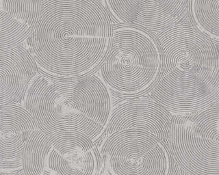Livingwalls Wallpaper «Cottage, Grey, Metallic, White» 379002