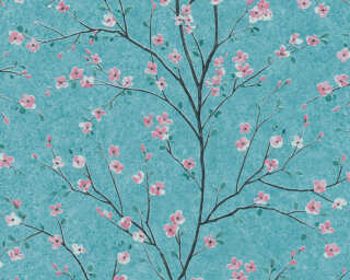 Livingwalls Wallpaper «Floral, Blue, Green, Pink» 379123