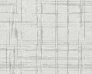 Livingwalls Tapete «Grafik, Grau, Metallics, Weiß» 379191