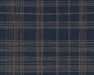 Livingwalls Tapete «Grafik, Blau, Metallics» 379194