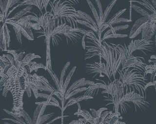 MICHALSKY LIVING papier peint intissé «Floral, noir» 379832