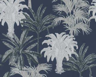 MICHALSKY LIVING papier peint intissé «Floral, bleu» 379835