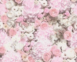 A.S. Création флизелин «Флора, Белые, Розовые» 380081