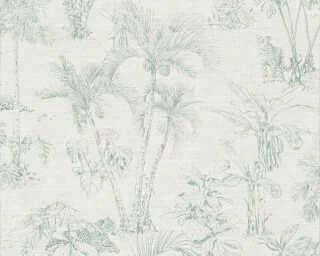 A.S. Création Tapete «Grafik, Grau, Grün» 380212