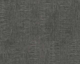 A.S. Création papier peint «Rayures, métallique, noir» 380263