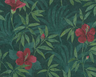 A.S. Création Tapete «Grafik, Floral, Grün, Rot» 380281