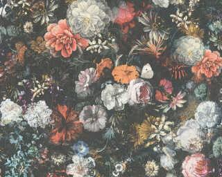 Livingwalls флизелин «Барокко, Флора, Оранжевые, Разноцветные, Серыe» 380951