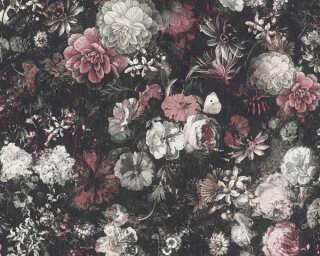 Livingwalls флизелин «Барокко, Флора, Белые, Красные, Черные» 380952
