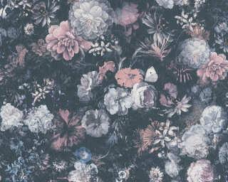 Livingwalls флизелин «Барокко, Флора, Розовые, Серыe, Черные» 380953