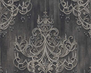 Livingwalls флизелин «Барокко, Серыe, Черные» 380964