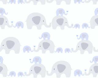 Livingwalls non-woven wallpaper «Child motif, Blue, Grey, White» 381131