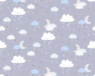 Livingwalls non-woven wallpaper «Child motif, Blue, Coloured, Grey» 381252
