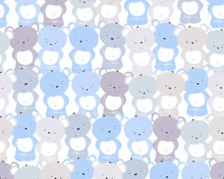 Livingwalls non-woven wallpaper «Child motif, Blue, Grey, White» 381291