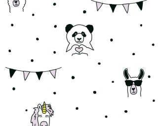 Livingwalls флизелин «Белые, Розовые, Черные» 381381