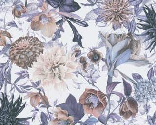 A.S. Création флизелин «Флора, Бежевые, Белые, Синие» 381751