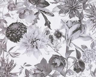 A.S. Création флизелин «Флора, Белые, Серыe» 381753