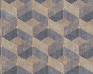 Livingwalls Vliestapete «Fliesen, Braun, Gelb, Grau» 382022